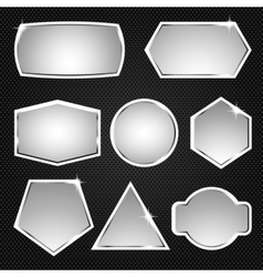 Metallic buttons Icons vector image vector image