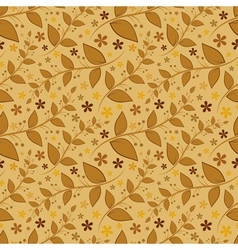 Seamless floral pattern with leaves and flowers vector image vector image