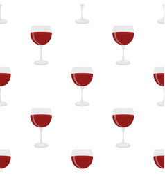 seamless pattern of glass for wine sangria vector image vector image