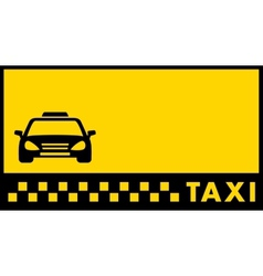 Backdrop for taxi visiting card vector