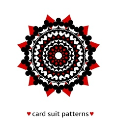 Card suit conceptual ornament vector image vector image