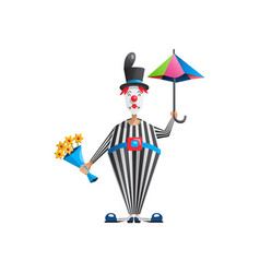 cartoon clown actor vector image