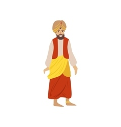 Man Wearing National Indian Costume vector image vector image