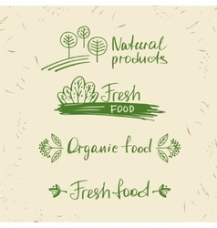 Set logos natural products Design elements for vector image vector image