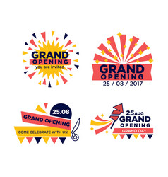 set of grand opening announcements vector image