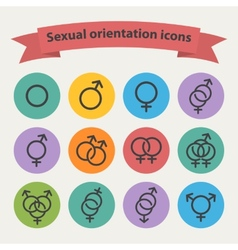 sexual orientation black web icons vector image vector image