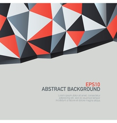 triangles background with copyspace vector image