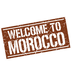 Welcome to morocco stamp vector