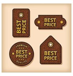 best price labels vector image
