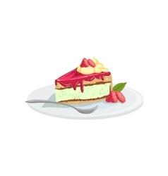 Cheesecake European Cuisine Food Menu Item vector image vector image