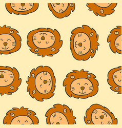 collection of funny animal doodles vector image vector image