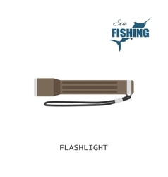 Flashlight Item of fishing vector image