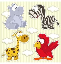 Icon set animal vector