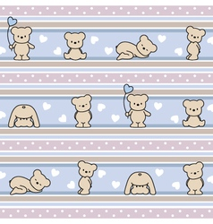 pattern with teddy bears vector image
