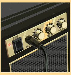 retro guitar amplifier vector image vector image