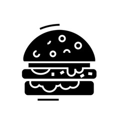 cheese burger line icon vector image