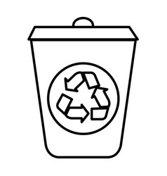 ecology recycle bin isolated icon vector image