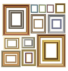 Photo picture frames vintage vector image vector image