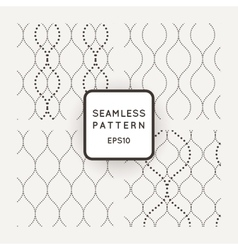 Set of seamless patterns point of wavy vector image