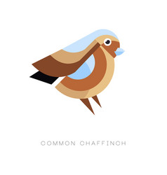 abstract logo design of common chaffinch vector image