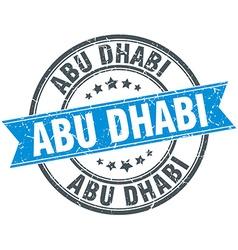 Abu Dhabi blue round grunge vintage ribbon stamp vector