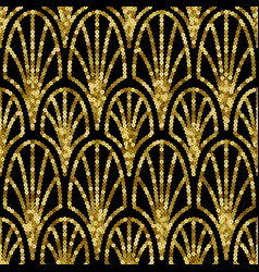 art deco golden sequin seamless pattern gatsby vector image