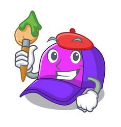 Artist cap shape in a cartoon vector