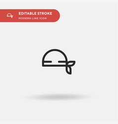 Bandana simple icon symbol vector
