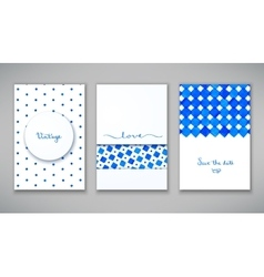 Beautiful set of cards vector image