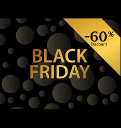black friday 60 percent discount golden gradient vector image