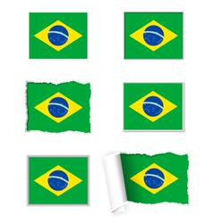 Brazil flag set vector image