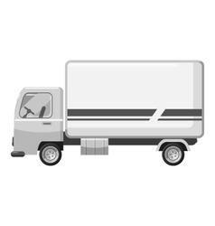 Cargo van icon gray monochrome style vector