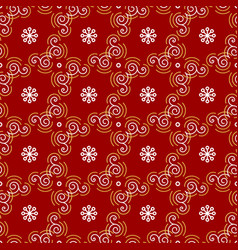 christmas pattern seamless new year wrapping vector image