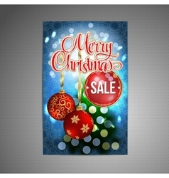 Christmas Sale Poster background with vector image