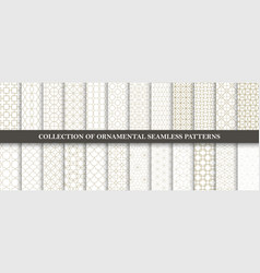 collection of seamless ornamental patterns vector image