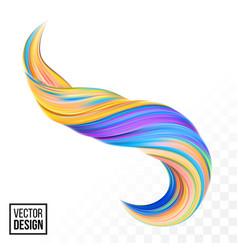 color paint 3d wave twist yellow background vector image