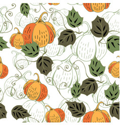 Colored pumkin on white vector