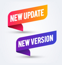 colorful new update and version banner vector image