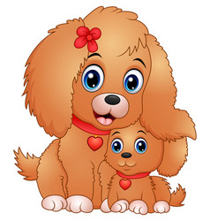 cute little dogs cartoon vector image