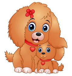 Cute little dogs cartoon vector