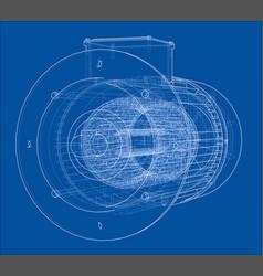 Electric motor sketch vector