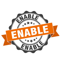 Enable stamp sign seal vector