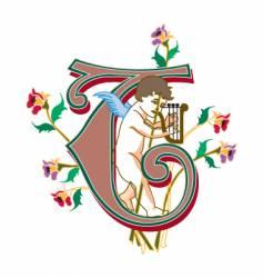 fairytale letter t vector image