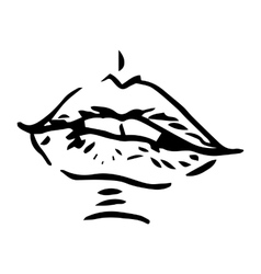Fashion hand drawn female lips vector