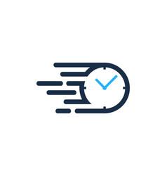 fast time logo icon design vector image