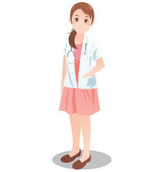 female doctor in occupation concept vector image