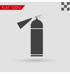 Fire extinguisher icon isolated flat style vector