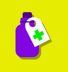 Flat icon design collection medicines bank in vector