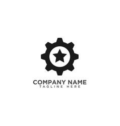 Gear and star logo design template vector