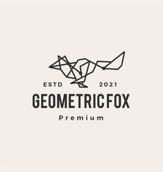 geometric fox tech connection line hipster vector image